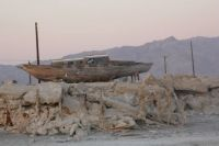 Waiting to sail again on the Salton Sea