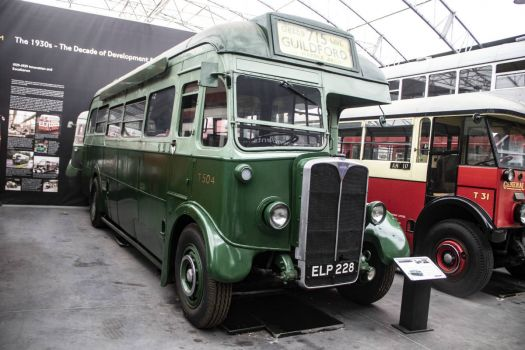 London Bus Museum Brooklands 01-03-2019 Reg No ELP228 AEC Regal I coach – T504 1938 02
