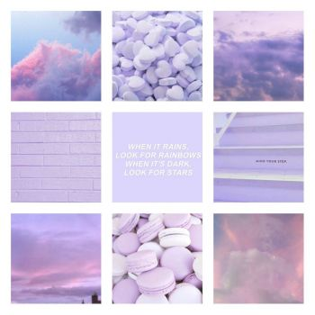Solve Pastel Purple Collage jigsaw puzzle online with 225 ...