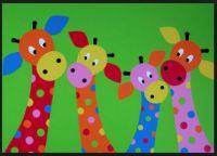 Four giraffe cutouts