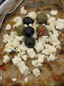 Meat with feta