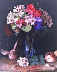 Stilleben mit Blumen in Vase (1837)