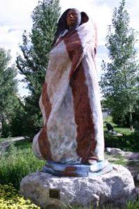 Sacajawea 'bronze' / Cody, WY