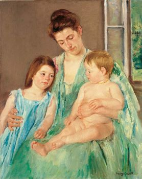 Young Mother and Two Children, 1908