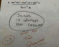 Apparently, my teacher is not a believer.