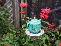 Teapot garden ornament