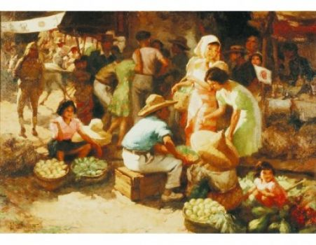 Marketplace During the Occupation by Fernando Cueto Armosolo,