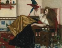 VALENTINE CAMERON PRINSEP -THE LADY OF THE TOOTI-NAMEH OR THE LEGEND OF THE PARROT