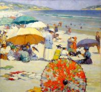 F. M. Grant-1917  The red parasol