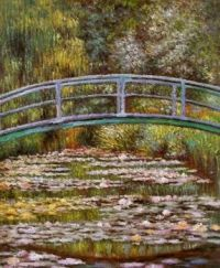 Claude Monet - Japanese Footbridge over the Water Lily Pond in Giverny, 1899 (Apr17P06)
