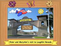 Peter and MaryAnn's visit to Laughlin Nevada sign.