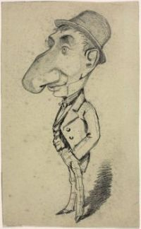 Claude Monet - Caricature of a Man with a Large Nose (May17P03)