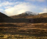 Snow clad mountain top