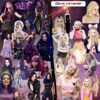 Dove Cameron and Mal collage
