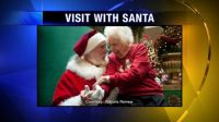 104 year old visits with Santa on birthday!