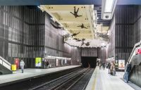Comte de Flandre Station, Brussels, Belgium