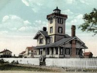 Old postcard of Hereford Lighthouse - Anglesea, New Jersey