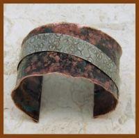 Copper and Sterling Silver Cuff