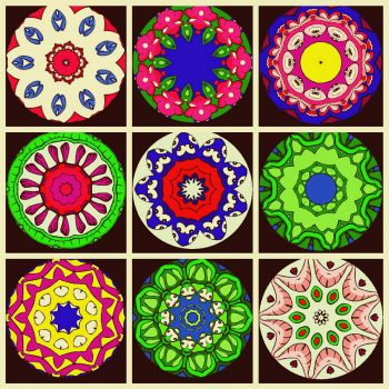 Coloring Book Kaleidoscopes - larger