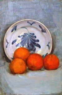 Mondrian still life with oranges