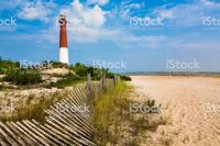 -Bargenat Lighthouse in Bargenat Bay on the Jersey shore- New Jersey USA
