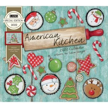 LANG 2022 Wall Calendar American Kitchen (Christmas in July)