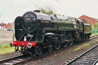 70013,  Oliver Cromwell, unlined BR Standard Class 7 4-6-2 built Crewe 1951; at Loughborough