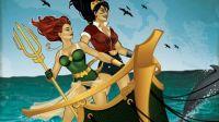 DC Bombshells Wonder Woman and Mera