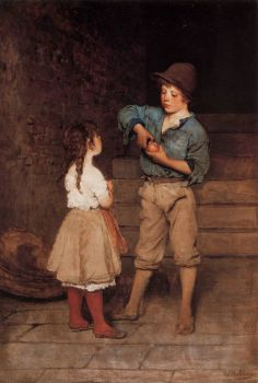 Two Children by Eugene de Blaas