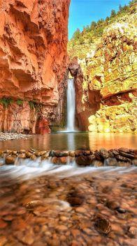 Cibecue Falls in Gila county AZ