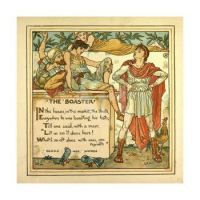 """Walter Crane - illustration for a collection of """"Aesop Fables"""" - 1887"""