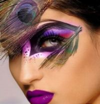 Purple Feathers, Purple Eyes, Purple Lips