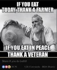 Thank you, Farmers & Veterans