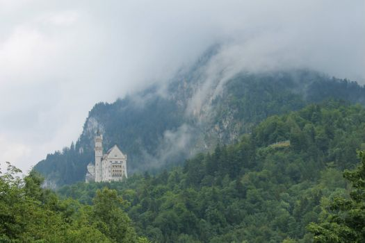 View of Neuschwanstein Castle in Germany