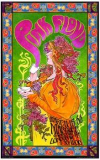 1966 Vintage Music Poster for Pink Floyd