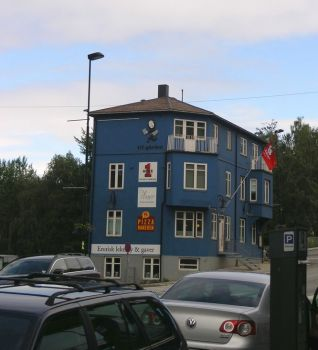 Blue house in Narvik - Norway