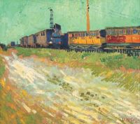 Van Gogh, Railway Carriages, August 1888