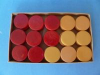 Bakelite checkers, backgammon chips