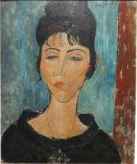 Woman with pendant - Betrice Hastings  - Modigliani