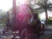 Sunlight through steam engine