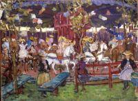 Maurice Prendergast (American, 1858–1924), Flying Horses (ca 1902–1906)