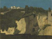 Thomas Jones: Naples: Buildings on a Cliff Top, 1782