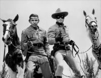 THEME:  TV Shows  The Lone Ranger - Clayton Moore & Silver/Jay Silverheels & Scout (more puzzles under Sue49)