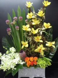 Happiness is.... Exotic Floral Art Arrangement.