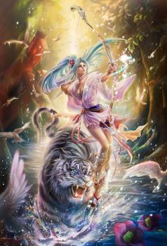 White Tiger & Archer in Water