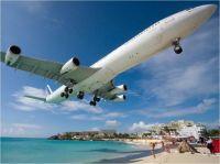 plane on beach