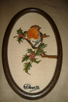 Nicky's Bird Embroidery: Robin