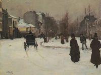 Boulevard de Clichy under Snow