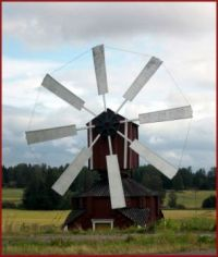 Windmill in Jalasjärvi in Finland