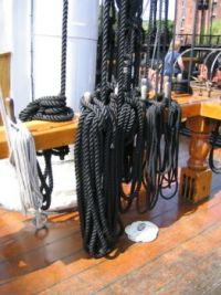 BostonMA-USS Constitution Rigging